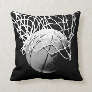 Black & White Basketball Artwork Cushion