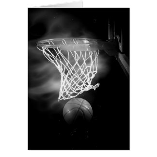 Black & White Basketball Artwork Greeting Card