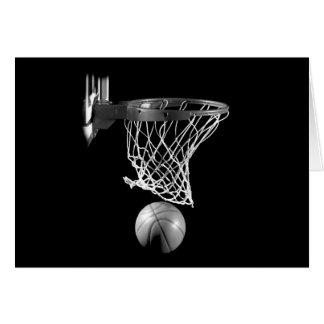 Black & White Basketball Greeting Cards