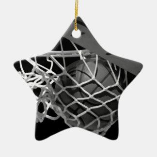 Black & White Basketball Christmas Ornament