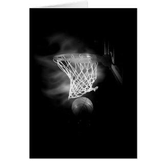 Black & White Basketball Greeting Card