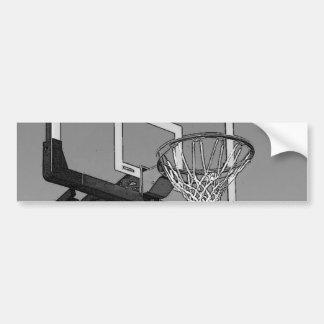 Black White Basketball Hoop Bumper Stickers