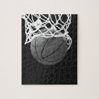 Black & White Basketball Jigsaw Puzzle