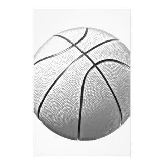 Black & White Basketball Personalised Stationery