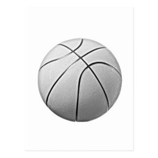 Black White Basketball Post Card