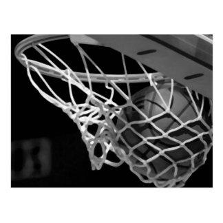 Black White Basketball Post Cards