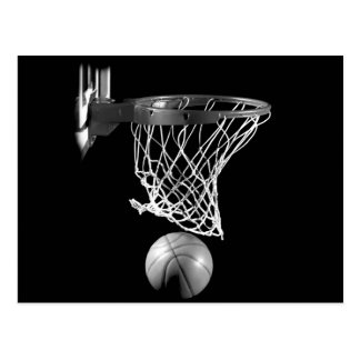 Black & White Basketball Post Card