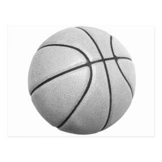 Black & White Basketball Postcard