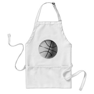 Black & White Basketball Standard Apron