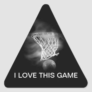 Black & White Basketball Triangle Sticker