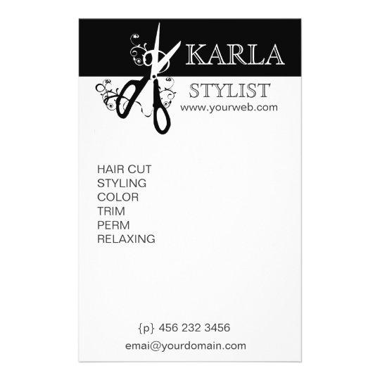 Black White Beauty Salons Spa Professional Flyer