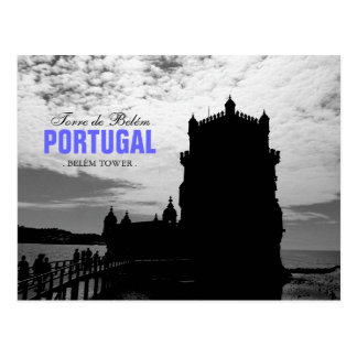 Black White Belem Tower Silhouette 2 | Torre Belem Postcard