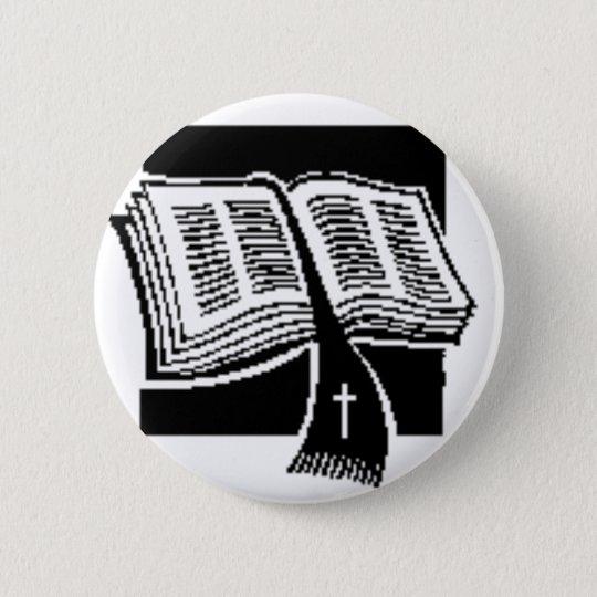 Black & White-bible-art design 6 Cm Round Badge