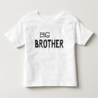 Black & White Big Brother Typography Toddler T-Shirt
