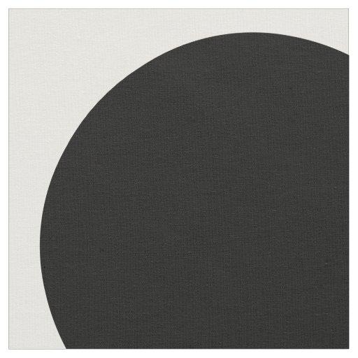 Black White Big Polka Dots Fabric