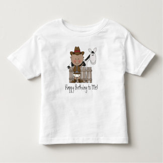 Black & White Birthday Pony - Boys Toddler T-Shirt