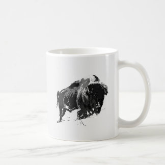 Black & White Bison / Buffalo Coffee Mug