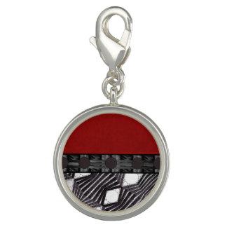 Black White Bling Red Silk