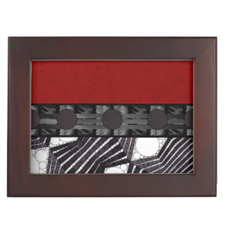Black White Bling Red Silk Keepsake Box
