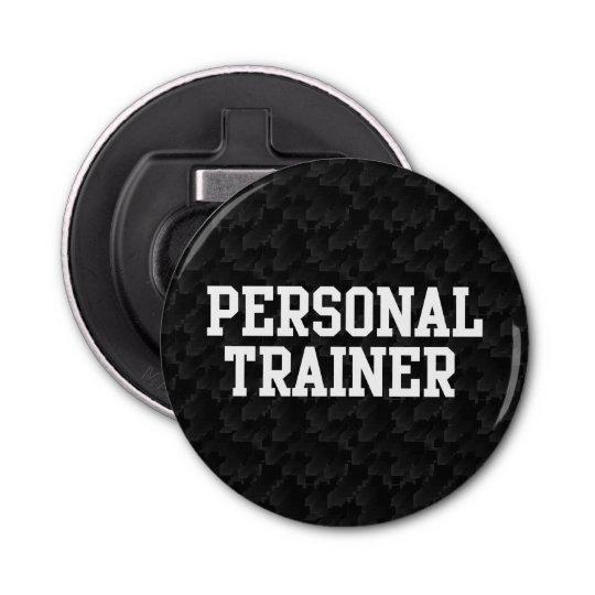 Black/White Block Personal Trainer Bottle Opener