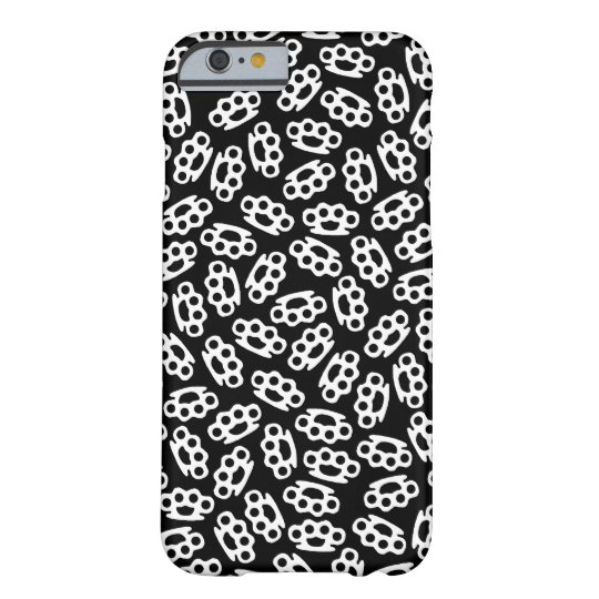 Black & White Brass Knuckles Coated iPhone 6