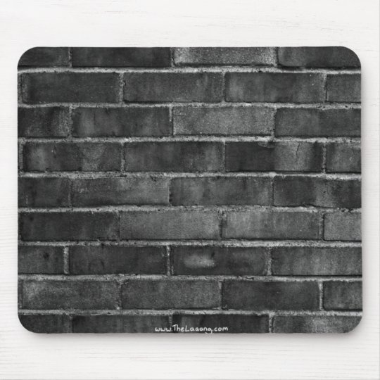 black & white brick wall texture mouse mat