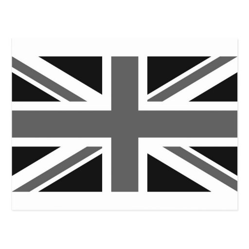 Black & White British Flag Postcard