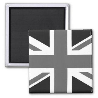 Black White British Flag Refrigerator Magnet