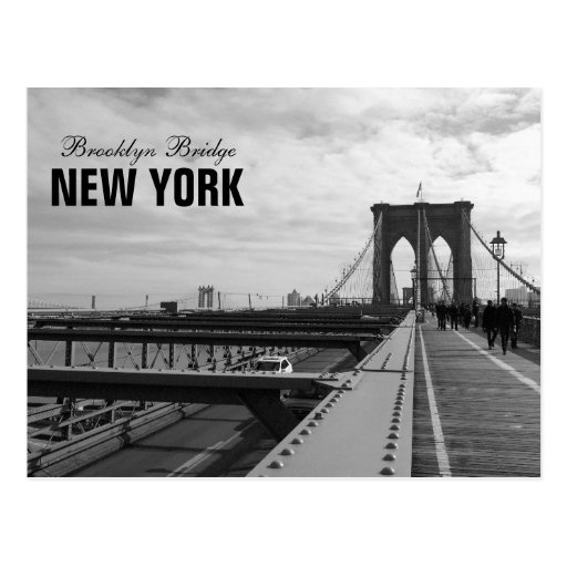 Black White Brooklyn Bridge - NY New York nr 1 Postcards