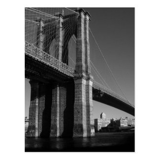 Black & White Brooklyn Bridge Postcard