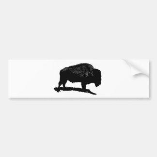 Black & White Buffalo Bumper Sticker