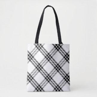 Black & White Buffalo Check Tote Bag
