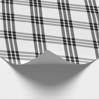 Black & White Buffalo Check Wrapping Paper