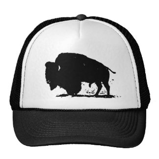 Black & White Buffalo Silhouette Cap