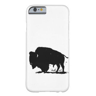 Black & White Buffalo Silhouette iPhone 6 Case Barely There iPhone 6 Case