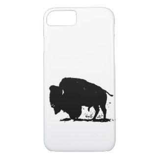 Black & White Buffalo Silhouette iPhone 7 Case