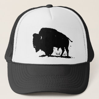 Black & White Buffalo Silhouette Trucker Hat