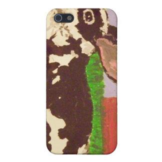 Black & White Bunny I-Phone 4S Case iPhone 5 Cases