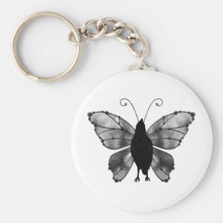 Black White Butterfly Raven Key Chains