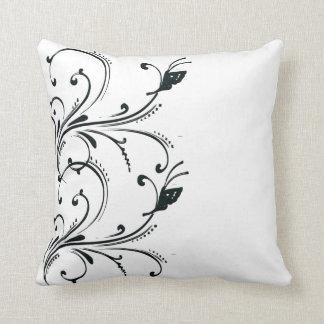 Black White butterfly Scroll American MoJo Pillows Cushion