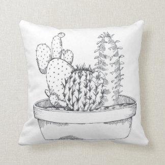 Black & White Cactus Pillow