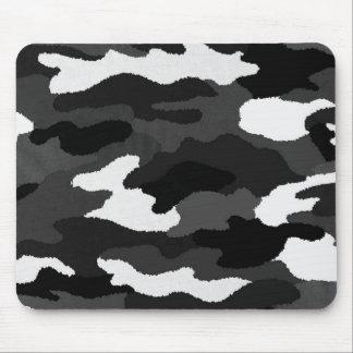 Black & White Camo Mouse Mat