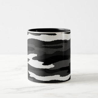 Black & White Camo Two-Tone Coffee Mug
