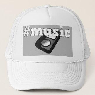 Black & White Cap Hashtag Music with Ipod Design