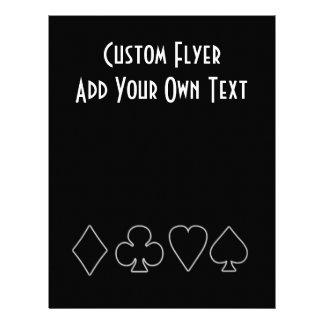 Black & White  Card Suits 1 21.5 Cm X 28 Cm Flyer