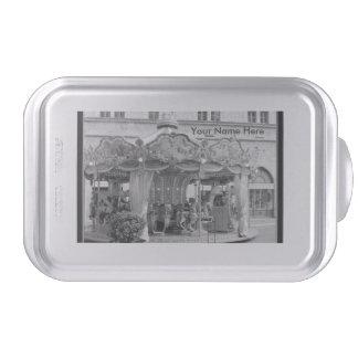 Black & White Carousel Pattern from Rome, Italy Cake Pan