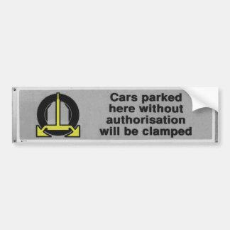 black & white cars will be clamped bumper sticker