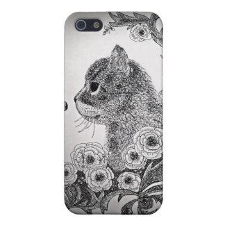 Black & White Cat iPhone 5 Case