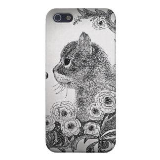 Black & White Cat iPhone 5 Case