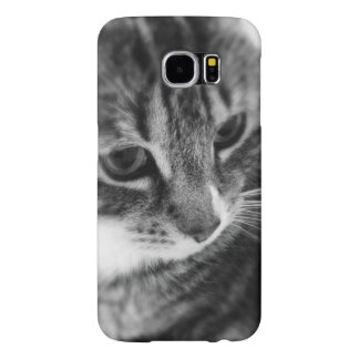 Black White Cat Samsung Galaxy S6 Cases